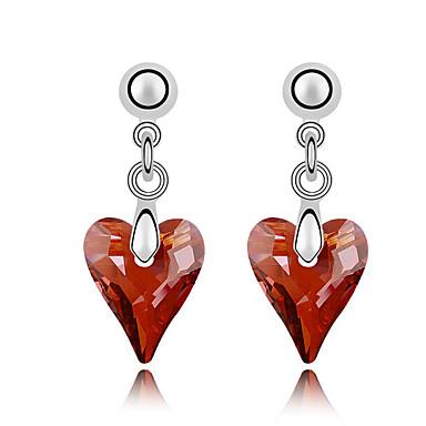 Damskie Kryształ Unikalny Miłość Serce Biżuteria Ślub Impreza Urodziny