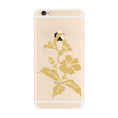 من أجل أغط / كفرات شفاف نموذج غطاء خلفي غطاء زهور ناعم TPU إلى Apple فون 7 زائد فون 7 iPhone 6s Plus iPhone 6 Plus iPhone 6s أيفون 6