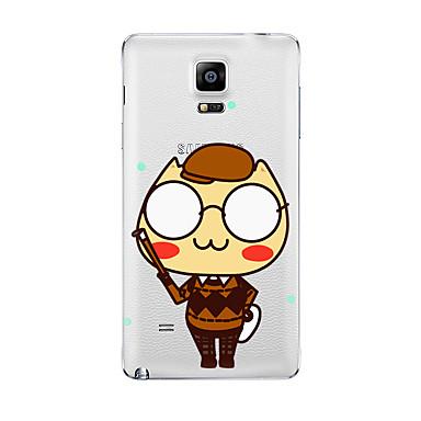 إلى شفاف نموذج غطاء غطاء خلفي غطاء كرتون ناعم TPU إلى Samsung Note 5 Note 4 Note 3 Note 2