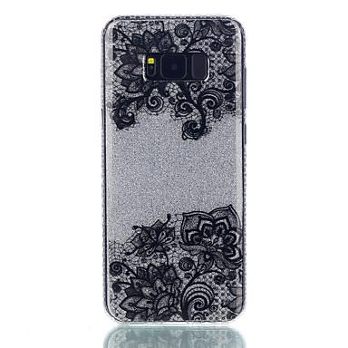 Etui Käyttötarkoitus Samsung Galaxy S8 Plus S8 IMD Kuvio Takakuori Lace Printing Kimmeltävä Kukka Kova PC varten S8 S8 Plus S7 edge S7