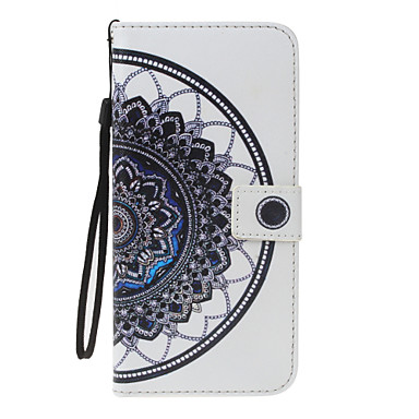 غطاء من أجل Samsung Galaxy S8 Plus S8 محفظة حامل البطاقات مع حامل قلب نموذج مغناطيس كامل الجسم ماندالا نمط الطباعة الدانتيل قاسي جلد