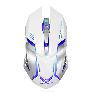 Oplaadbare draadloze gaming muis 7-kleuren backlight adem comfort gamer muizen voor computer desktop laptop notebook pc