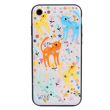 Için Kılıflar Kapaklar Süslü Temalı Arka Kılıf Pouzdro Kedi Karikatür Sert Akrilik için AppleiPhone 7 Plus iPhone 7 iPhone 6s Plus iPhone