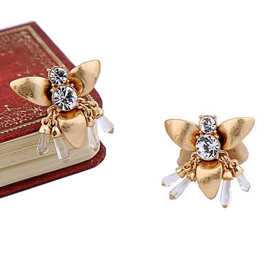 Kolczyki koła Kryształ Zwierzęta Osobiste euroamerykańskiej Gold Biżuteria Na Ślub Impreza Urodziny 1 para