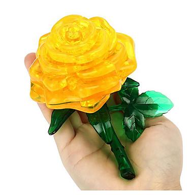 قطع تركيب3D تركيب كريستال الورود 3D لهو بلاستيك كلاسيكي