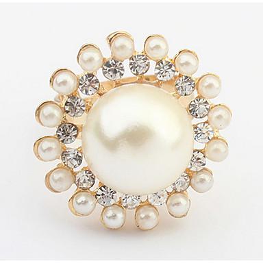 Dames Bandringen Ring Imitatie Parel Gepersonaliseerde Cirkelvormig ontwerp Uniek ontwerp Logostijl Klassiek Vintage Bohémien Standaard
