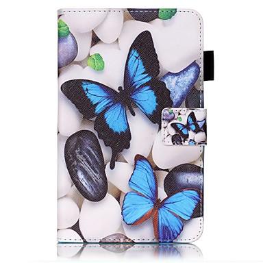 Για Θήκες Καλύμματα Πορτοφόλι Θήκη καρτών με βάση στήριξης Ανοιγόμενη Με σχέδια Πλήρης κάλυψη tok Πεταλούδα Σκληρή PU Δέρμα για Samsung
