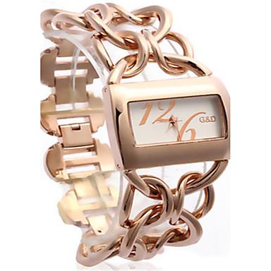 Dames Modieus horloge Kwarts Legering Band Goud Rose