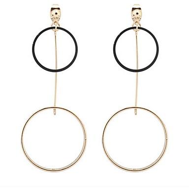Damen Tropfen-Ohrringe Kreolen Schmuck Personalisiert Religiöser Schmuck Geometrisch Kreisförmiges Einzigartiges Design Logo Stil
