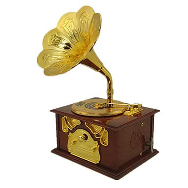Muziekdoos Fonograaf Alles voor de feestdagen Metaal Kunststof Unisex