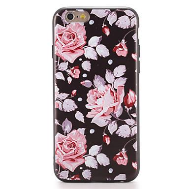 Pentru Carcase Huse Model Carcasă Spate Maska Floare Moale TPU pentru AppleiPhone 7 Plus iPhone 7 iPhone 6s Plus iPhone 6 Plus iPhone 6s