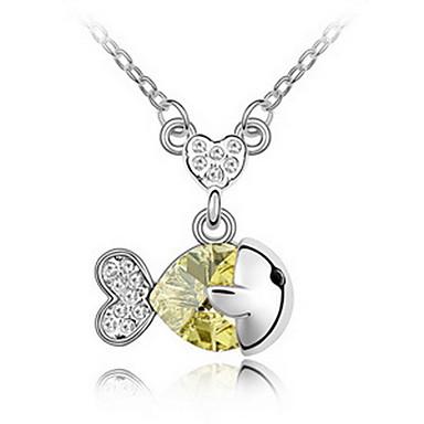 Γυναικεία Κρεμαστά Κολιέ Κοσμήματα Κοσμήματα Πετράδι Κράμα Μοναδικό χαριτωμένο στυλ Βυσσινί Κίτρινο Ροζ Μπλε Απαλό Πράσινο Ανοικτό
