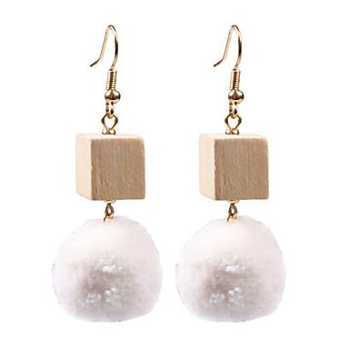 Damen Tropfen-Ohrringe - Luxus / Kreisförmiges / Einzigartiges Design Weiß / Schwarz / Rot Kreisform Ohrringe Für Hochzeit / Party /