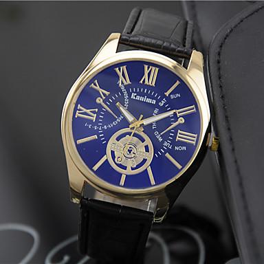 Bărbați Quartz Ceas de Mână cald Vânzare Piele Bandă Charm Modă Negru Maro