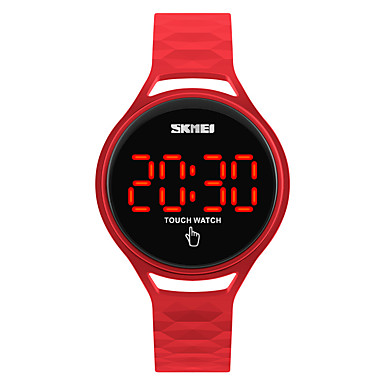 SKMEI Kinder Digitaluhr Armbanduhr Modeuhr Sportuhr Japanisch digital Touchscreen Wasserdicht LED Silikon Band Cool Schwarz Blau Rot Gelb