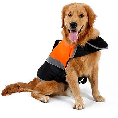 Kat Hond Regenjas Gilet Zwemvest Hondenkleding Effen Oranje Groen Katoen Textiel Binnenwerk Kostuum Voor huisdieren Heren Dames Schattig