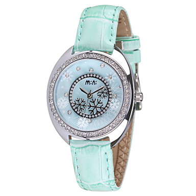 Dames Modieus horloge Kwarts PU Band Rood Groen