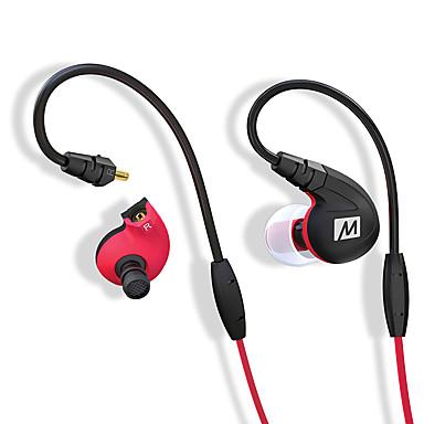 مي الصوت m7p المهنية سماعات الأذن الرياضية ipx5 للماء عرق المنطقة مع سلك السيطرة