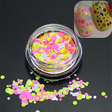 1bottle makea tyyli kuuma muoti kynsikoristeet DIY kauneus Glitter kierroksella paillette värikäs ohut viipale koristeluun p25