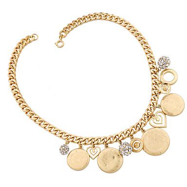 Damskie Pasemka Naszyjniki Kryształ Unikalny Modny Osobiste euroamerykańskiej Gold Biżuteria Na Ślub Impreza 1szt