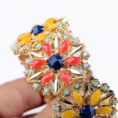 Damskie Bransoletki bangle Biżuteria Przyjaźń Modny Stop Flower Shape Rainbow Biżuteria Na Impreza Urodziny 1szt