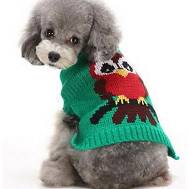 Câine Pulovere Îmbrăcăminte Câini Casul/Zilnic Modă Desene Animate Rosu Verde Închis Costume Pentru animale de companie