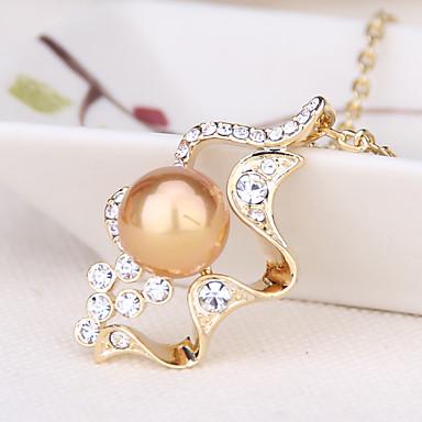 Damen Anderen Herz Einzigartiges Design Modisch Euramerican Anhängerketten Schmuck Perle Künstliche Perle Gold Pearl Schwarze Perle