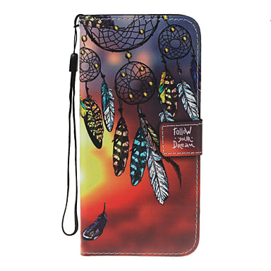 غطاء من أجل هواوي P9 لايت Huawei هواوي P8 لايت حامل البطاقات محفظة مع حامل قلب نموذج غطاء كامل للجسم ملاحق الأحلام قاسي جلد PU إلى P10