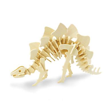 قطع تركيب3D الخشب نموذج ألعاب ديناصور خشب للجنسين قطع