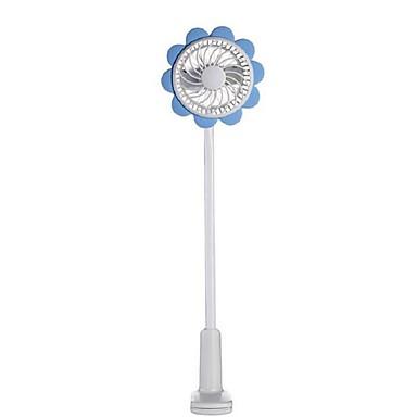 Güneş çiçek şarj edilebilir bebek güvenlik fanı, usb şarj cihazı, taşınabilir kelepçe küçük fan, 5v