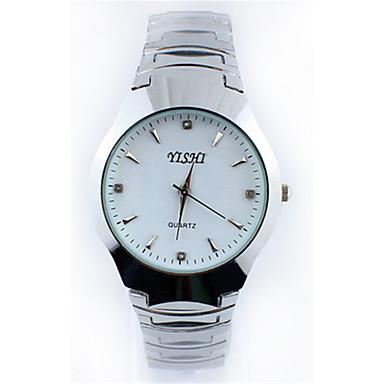 Dames Modieus horloge Kwarts Roestvrij staal Band Zwart Wit