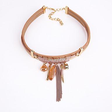Damen Kreisform Modisch Euramerican Halsketten Baumwollflanell Aleación Halsketten . Weihnachts Geschenke Party Geschenk Valentinstag