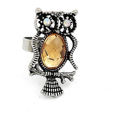 Heren Dames Bandringen Ring Synthetische Diamant Gepersonaliseerde Uniek ontwerp Logostijl Dierenontwerp Klassiek Vintage Bohémien