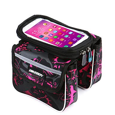 Τσάντα για σκελετό ποδηλάτου Τσάντα για τιμόνι ποδηλάτου Κινητό τηλέφωνο τσάντα 5.7 ίντσα Αδιάβροχη Αδιάβροχο Φοριέται Οθόνη Αφής