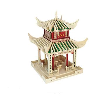 3D-puzzels Speeltjes Chinese architectuur Hout Unisex Stuks
