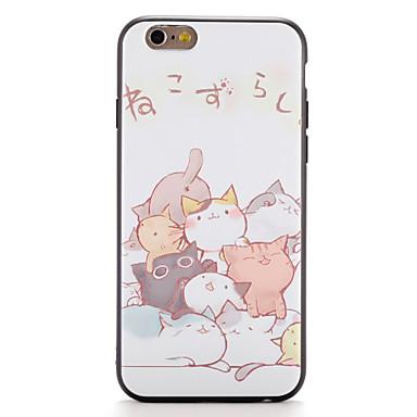 Pouzdro Uyumluluk iPhone 7 / iPhone 7 Plus / iPhone 6s Plus Temalı Arka Kapak Kedi Yumuşak TPU için iPhone 7 Plus / iPhone 7 / iPhone 6s