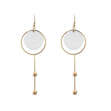 Damen Mädchen Tropfen-Ohrringe Schmuck Personalisiert Kreisförmiges Einzigartiges Design Klassisch Etikett Quadrat Hypoallergen Modisch