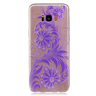 Maska Pentru Samsung Galaxy S8 Plus S8 IMD Transparent Capac Spate Floare Moale TPU pentru S8 Plus S8 S7 edge S7 S6 edge S6 S5