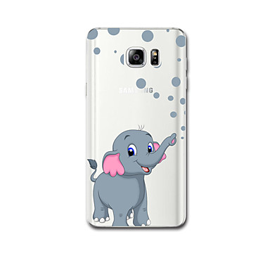 Για Θήκες Καλύμματα Εξαιρετικά λεπτή Με σχέδια Πίσω Κάλυμμα tok Ελέφαντας Μαλακή TPU για Samsung Note 5 Note 4 Note 3