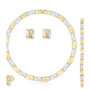 Damen Schmuckset Ohrringe / Armband Halskette / Ring Modisch Euramerican Hochzeit Party Geburtstag Verlobung Alltag Normal Strass Aleación