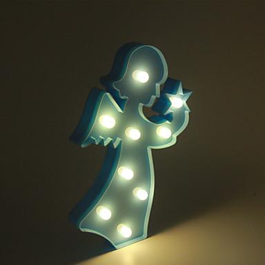 1pc 3d lumina de noapte de plastic a condus lampă copii cameră dormitor noptieră lampă partid nunta acasă decoratiuni