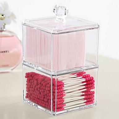 Cutie Cosmetice Others Depozitare Farduri Solid Pătrat Acrilic Bisque