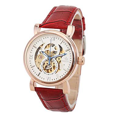 Heren Modieus horloge Chinees Kwarts Leer Band Rood