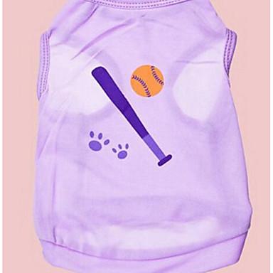 Σκύλος Veste Ρούχα για σκύλους Χαριτωμένο Καθημερινά Γράμμα & Αριθμός Βυσσινί Στολές Για κατοικίδια