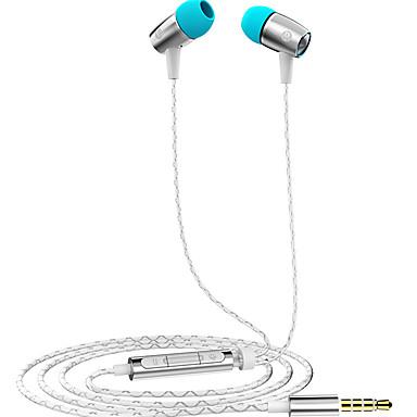 Voor mobiele telefoon mobiele telefoon computer in-ear bedraad aluminium 3,5 mm met microfoon volumeregeling geluiddempende hi-fi