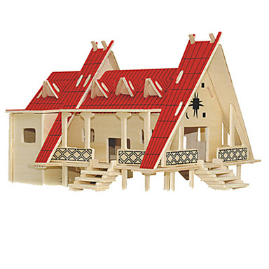 3D-puzzels Hout Model Speeltjes Beroemd gebouw Hout Unisex Stuks