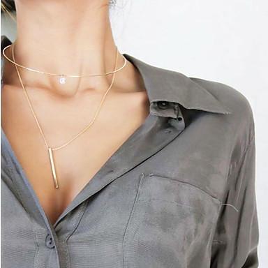 Damen Anderen Personalisiert Quaste Modisch Euramerican Halsketten Anhängerketten Schmuck Kupfer Strass Halsketten Anhängerketten . Party