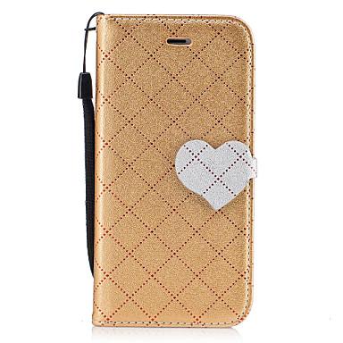 Hülle Für Apple Geldbeutel Kreditkartenfächer mit Halterung Flipbare Hülle Magnetisch Handyhülle für das ganze Handy Volltonfarbe Herz