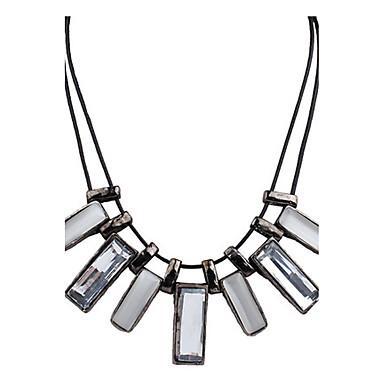 Dames Gepersonaliseerde Vintage Dubbele laag Modieus Euramerican Opvallende sieraden Hangertjes ketting Hars Legering Hangertjes ketting ,