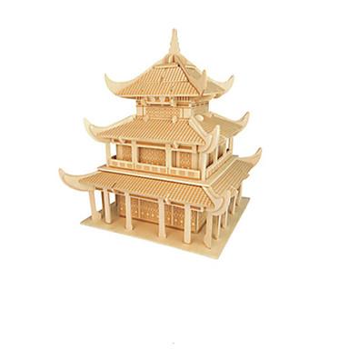 3D-puzzels Hout Model Modelbouwsets Speeltjes Chinese architectuur Hout Unisex Stuks